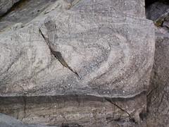 Overturned cross-bedding in quartzite (Baraboo Quartzite, upper Paleoproterozoic, ~1.7 Ga; Tumbled Rocks Trail, Devil's Lake State Park, Wisconsin, USA) 4 (James St. John) Tags: park lake rocks cross state south devils trail ranges range quartzite stratified baraboo bedding overturned precambrian stratification tumbled bedded paleoproterozoic proterozoic