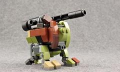 "TU-21 ""Fu Dog"" Artillery Carriage (Deltassius) Tags: mfz mf0 lego space war military tank frame mech mecha robot artillery scifi"