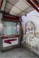 Rome . (:: Blende 22 ::) Tags: italy italien rome rom underground ubahn graffiti streets canoneos5dmarkiv ef2470f28liiusm ballon papst franziskus pope tickets