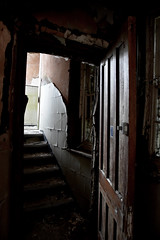 Its open (Gareth Priest) Tags: urbandecay urbex urbanexploration mood atmosphere light dark mysterious door stairs