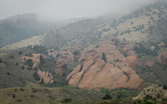 IMG_7767 (kz1000ps) Tags: tour2016 america unitedstates scenery landscape colorado hills mountains rocky rockies cloudy gray grey fog redrockspark foothills monoliths morrison denver redsandstoneoutcrops rockformations usa