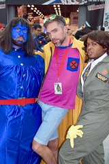 DSC_0654 (Randsom) Tags: nycc 2016 newyorkcomiccon nycomiccon javitscenter october nyc newyorkcity cosplay costume fun comicbooks comicconvention marvelcomics xmen superhero hero mutant groupshot group team people jubilee beast gay trio swishy beard