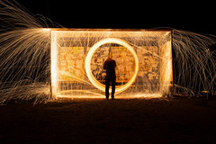 IMG_7721 (kurmysh0v) Tags: steel wool sparks glowing fire spinning hot background night circle light abstract orange fireworks yellow bright motion danger concept burning