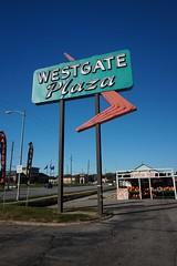 Westgate Googie Arrow Sign - Daytime [vertical] (Twang Your Head) Tags: arrow neon googie sign