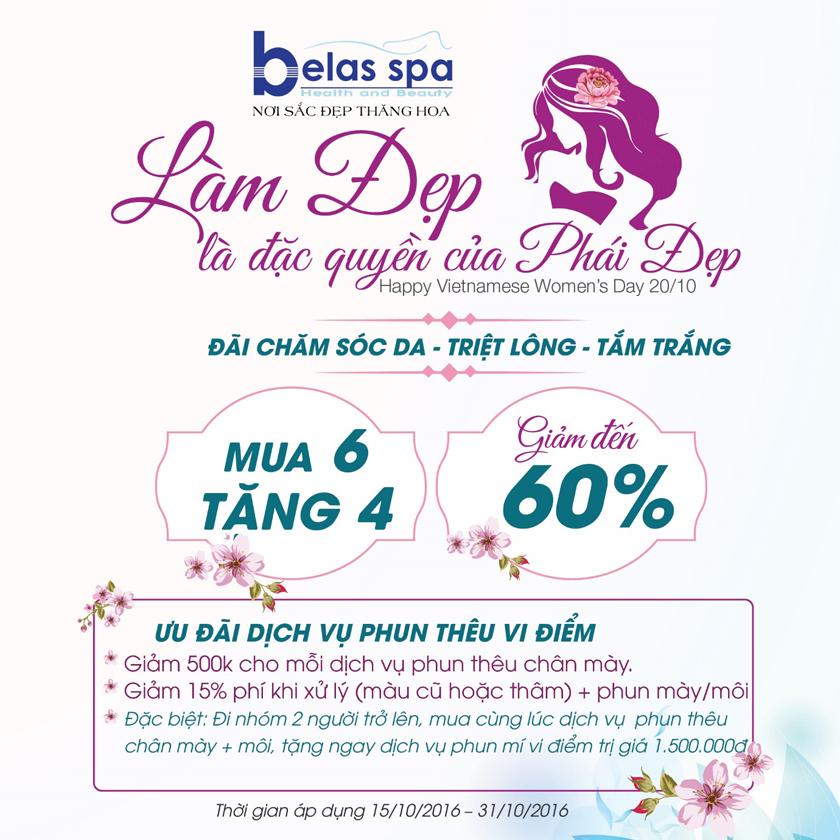 Ưu đãi ngập tràn cho ngày phụ nữ Việt Nam 20.10