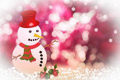 Christmas background with snowman (Krunja) Tags: abstract background beautiful blue blurred bokeh card celebration christmas cold december decor decoration decorative design festive fir flake gold golden green greeting happy holiday illustration light lights merry new ornament pattern red season seasonal shiny snow snowflake snowman space symbol toy tree vector vintage white winter wood wooden xmas year