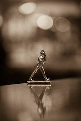Keep walking (Vagelis Pikoulas) Tags: man statue canon 6d tamron 70200mm vc longexposure light lights bw bokeh blur