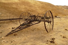 Hay rakes. (openspacer) Tags: farmmachinery