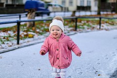 Playing in the snow (David McHale Photography) Tags: portrait portraits portraiture baby photography photographersportrait smiles smile snow weather playing canon 50mmf14 70d