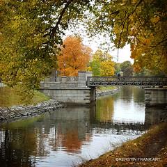 The Bridge (Kerstin Frank art) Tags: bridge stockholm djurgården sweden autumn texture kerstinfrankart trees water djurgårdsbrunnskanalen