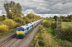 66711 (Geoff Griffiths Doncaster) Tags: 66711 willington 6m83 gbrf class 66 sence