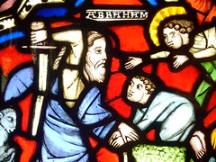 In the nick of time (gowersaint) Tags: stainedglass glass medieval bible biblical jewish oldtestament abraham isaac sacrifice man boy angel sword altar bound ram colourful colour britain scotland glasgow burrell art culture costume story heritage history historic prophet patriarch genesis ritual founder angelic religion faith movement ancient scripture museum collection craft artistry creative