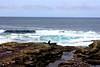 Red dot in front of the Ocean. (Ondeia) Tags: irlanda ireland cliff og moher scogliere contea clare oceano atlantico atlantic ocean panorama rocce