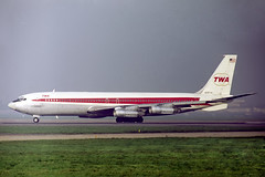 N28714 Boeing 707-331B TWA Trans World Airlines (pslg05896) Tags: n28714 boeing707 twa transworldairlines lhr egll london heathrow