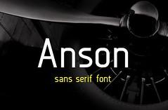 Get Anson  Free sans serif font (vectorarea) Tags: fonts freefontstouse sansserif