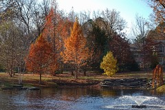 Autumn Colors (JPShen) Tags: pond fountain water trees colors autumn garden park house
