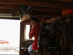 Captain Vu (program monkey) Tags: vietnam mekong river delta cargo boat ben tre tra vinh captain vu pilot driving drive shoulder