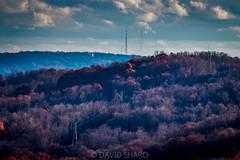 powerlines @westdeer (david_sharo) Tags: nature landscape telephoto clouds sky vivid forest