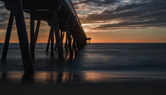 An Unfamiliar Return (Wilkof Photography) Tags: hermosabeachpier hermosabeach pier losangeles california autumn beach beachfront canont4i cloudy canon cloudcover colorful dark evening golden horizon landscape light land 18135mm 24mm lens longexposure neutraldensity nd1000 10stop cpl le lowangle lowlight tide surf nature overcast outside ocean oceanfront oceanscape coast coastline californiacoast pacificocean perspective reflection shadow scenic sky sunset serene sand sea sundown seaside symmetry seascape silhouette water wet waterfront windy waves wilkofphotography