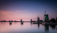 Windmills (Mika Laitinen) Tags: canon7dmarkii europe leefilters netherlands zaanseschans calm color dusk landscape longexposure nature outdoor sky sunset twilight wideangle windmills zaandam noordholland nl