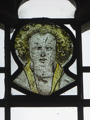 Angel Head (Aidan McRae Thomson) Tags: chalgrove church oxfordshire medieval stainedglass window angel