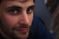 el batero (franciscocheves) Tags: rostro ojos azules rubio belleza sonrisa 35 mm