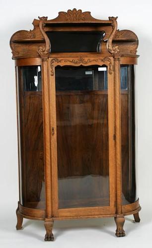 Oak Round Front China Cabinet ($784.00)
