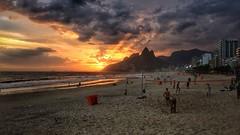 Ro de Janeiro.. (goyoxis) Tags: sunset landscape sea mar riodejaneiro clouds beach playa rodejaneiro