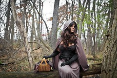 "Lil ""Gothic"" Red (Erich Morse Photography & Designs) Tags: erichmorsephotography wildwoodmetropark 2016 toledoohio littleredridinghood"