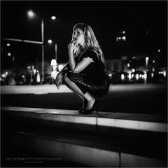 Film Noir VI (Passie13(Ines van Megen-Thijssen)) Tags: filmnoir filmnoirmood mood film noir dark donker night nacht evening weert limburg avond netherlands woman portrait portret blackandwhite bw sw zw zwartwit monochrome monochroom monochrom canon sigma35mmart inesvanmegen inesvanmegenthijsssen fineart bestportraitsaoi