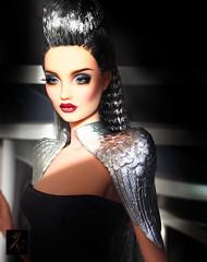 Metal Queen (kingdomdoll) Tags: glamour guinevere kingdomdoll kingdom doll carvetii resinfashiondoll resin silver metal fashion fashiondoll
