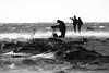 Sand drifting while seal watching (Explore) (Bemijoca) Tags: camera måkläppen sweden water baltic sea sand drifting people blackandwhite bw