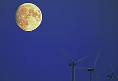 Wind turbines and Supermoon over the Baltic sea. (MRCPH) Tags: super moon copenhagen denmark scandinavia wind turbines sky mills sony a6000 sel55210 tele zoom blue astro europe skyscape landscape photo pictures flickr picture photos serene special supermoon ngc vestas siemens ge gamesa green energy sustainable beautiful light alpha autumn color colors colour colours yellow night darkness dark gold balticsea baltic feelings sea ocean environment