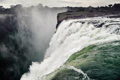 Water falling. (Simon Matzinger) Tags: water waterfall zambia zimbabwe victoriafalls zambesi