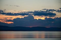 Smooth Sailing DSL9570 (iloleo) Tags: sunset quebec clouds blue scenic shoreline stlawrence landscape summer nikond7000 river stlawrenceriver rivireduloup nature