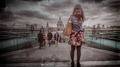 'It's hard to blend in when you were born to stand out' by Simon & His Camera (Simon & His Camera) Tags: stpauls london distorted architecture people portrait bridge thames city urban blur building cloud dome horizon iconic sky skyline landscape outdoor passage river simonandhiscamera vignette