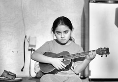 (Tony P Iwane) Tags: blackandwhite child instrument kid monochrome music portrait ukulele