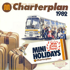Charterplan brochure, 1982 (Museum of Transport Greater Manchester archive) Tags: museum transport cheetham manchester wwwgmtscouk gmts bus buses museumoftransport gmtscollection greatermanchestertransportsociety boylestreet cheethamhill m88uw leyland charterplan publicity leaflet brochure duple coach gmt gmpte greatermanchestertransport leopard holiday holidays tours