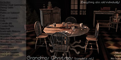 Grandmas Christmas (XAnSA) Tags: christmas xmas weihnachten furniture mbel vintage wooden worn mesh 3d granny grandma oma sl secondlife second life