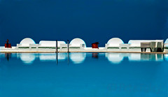 By the Pool (Pete Foley) Tags: greece pool infinitypool santorini blue water hot sunny summer littlestories picswithsoul