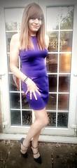 Blankyt (Steph Angel) Tags: stockings stephangel steph sexy crossdress cd girl feminine female femme transvestite tranny trans gender minidress dress bluedress dressing longlegs legs shoes highheels heels hair longhair nylons tights beauty