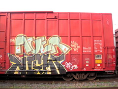 NIGHT ACER (QCBENCH) Tags: by night cherry graffiti acer boxcar cp goonies freight booyah vd gns