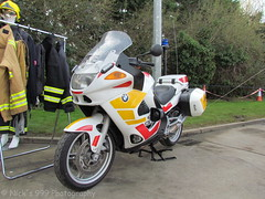 BMW Fire Bike Demo (Nick 999) Tags: road blue ireland rescue station bike fire lights traffic bmw drills ashbourne sirens organisation