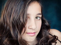 carly w/curls (scoopsafav) Tags: portrait color macro green girl beauty face kids portraits children kid eyes child close naturallight greeneyes teen tween leighduenasphotography