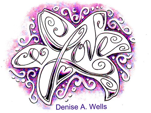 Love made into the shape of a Lily by Denise A. Wells