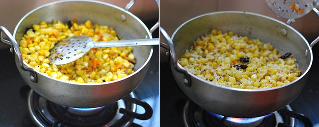 How to make sweet corn sundal 2