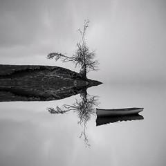 LOCH UTOPIA (kenny barker) Tags: bw monochrome landscape lumix scotland loch absoluteblackandwhite panasoniclumixgf1 welcomeuk kennybarker