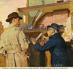 30557663 (The Advertising Archives) Tags: building vintage illustrations womens retro story posters british magazines johnbull disasters advertisingarchives magazineartwork theadvertisingarchives