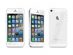 iphone 5 white - front, side and back view