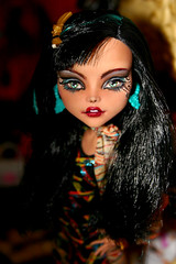 cleo de nile (datumzinebeautifulmemories) Tags: monster doll dolls ooak egyptian mummy cleo fashiondoll mattel godess repaint matteltoys monsterhigh cleodenile